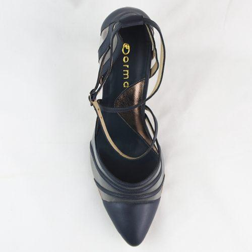 Sapato Alecrim grafite feito à mão.