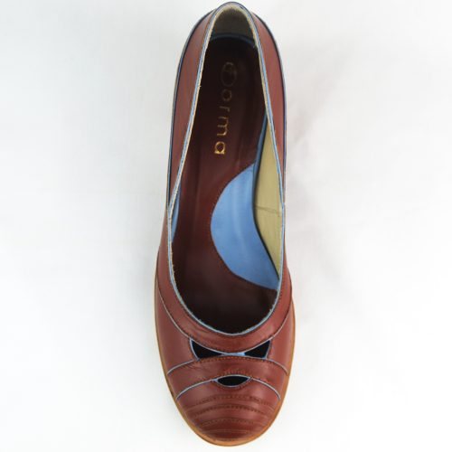 Sapato Naxos telha feito à mão.